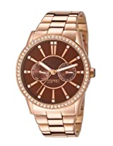 Esprit Analog Brown Dial Women's Watch - ES106122004