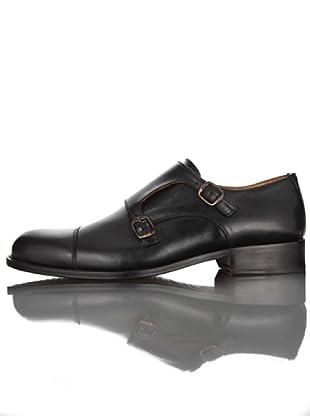 British Passport Zapatos Hebillas (Negro)