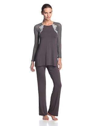 Valery Sleepwear Women's Biancaneve 2-Piece PJ Set (Black)