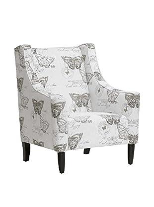 Baxton Studio Butterfly Hammarby Accent Chair, Beige