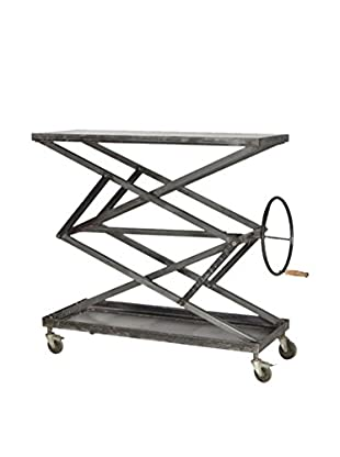 CDI Furniture Industrial Console, Raw Metal