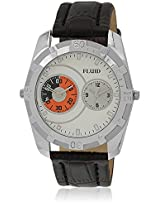 Fl-116-Wh01 Brown/White Analog Watch Flud