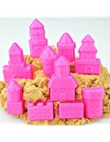 10Pcs a Set Mini Baby Children Kid Indoor Toy Beach Seaside Model Castle Clay Moving Magic Sand Gift