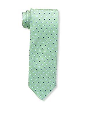 Bruno Piattelli Men's Dot Silk Tie, Green