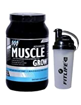 GXN Advance Muscle Grow 2 Lb (907grms) Butterscotch Flavor + Free Protein Shaker