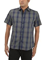King Richard Men's Casual Shirt (ART46_44, Blue, 44)