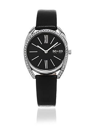 SO & CO New York Uhr mit Japanischem Quarzuhrwerk Gp15894 schwarz 34  mm
