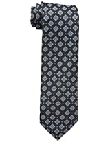 Haggar Men's Classic Washable All Over Tie, Black, One Size