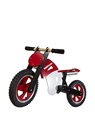 Kiddimoto Laufrad Scrambler Motocross rot/weiß