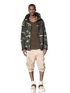 B: Scott Men's Camo Twill Mid Mock Jacket (Camo Green)