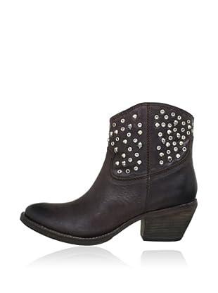 Buffalo London 1012-01 NOVA 142060 - Botines de cowboy de cuero  mujer (Marrón)