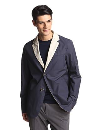 Salvatore Ferragamo Men's Reversible Blazer (Navy/Tan)