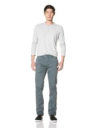 Just a Cheap Shirt Men's Garment-Dyed Flat-Front Pants (Hunter)