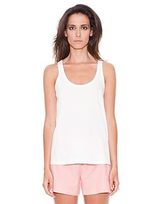 Women secret Camiseta Cotton Lace T-Shirt 1 (Blanco)