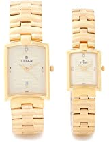 Titan Analog Watch For Couple Gold NC19402940YM02
