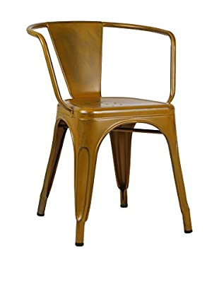 Lo+deModa Silla Greek Vintage Metal Color Edition Amarillo