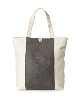Charlotte Ronson Women's Mixed Exotic Tote (Grey)
