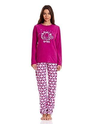 Gisela Pijama Camiseta Y Pantalón (Magenta)