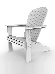 Malibu Outdoor Furniture Jamestown Adirondack Chair (White)