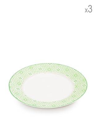 Tognana  Speiseteller 3er Set Ambra/Pearl weiß/grün