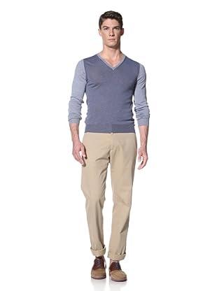 Simon Spurr Men's V-Neck Sweater (Blue)