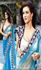 Stylelok Bollywood Dressing Madhubala Blue Saree|Color Blue