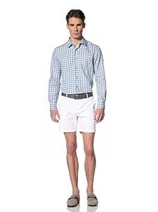 Brent Wilson The Basics Men's Double Pocket Shirt (Sky Check)