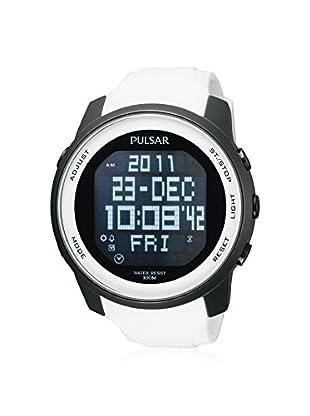 Pulsar by Seiko Men's PQ2015 Classic Digital White/Black Rubber Watch