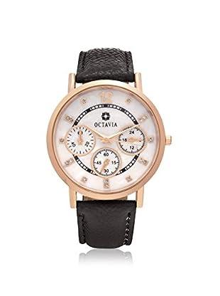Octavia Women's OCT2070 Regalia Black Leather Watch