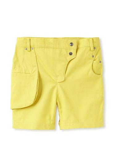 kicokids Girl's Work Wear Walking Shorts with Tool Belt Pocket (Cirtus)
