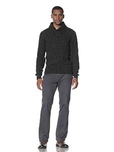 Cruciani Men's Shawl Collar Sweater (Dark Grey)