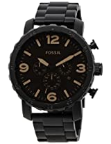 Fossil Nate stopwatch chronograph Brown Dial Men's Watch - JR1356