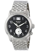 "Roberto Bianci Men's 1856D_BLK ""Eleganza"" Dual-Time Zone And Date Watch"