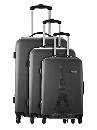 Platinium Set 3 Trolley 4 Ruedas Paris (Gris)