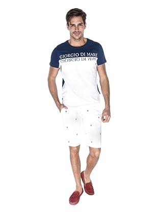Giorgio Di Mare Camiseta Valdo (Azul Marino / Blanco)