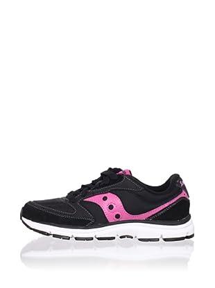 Saucony Kid's G Mod O Sneaker (Big Kid) (Black/pink)