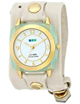 La Mer Collections Women's LMACETATE005 Analog Display Japanese Quartz White Watch