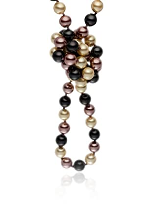 Pearls of London Kette  dunkelgrau/elfenbein/hellbraun
