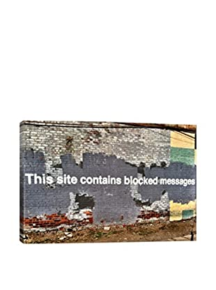 Banksy This Site Contains Blocked Messages Gallery Wrapped Canvas Print