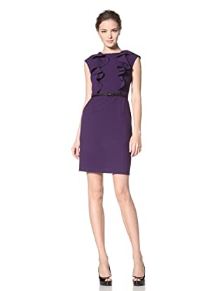 Calvin Klein Women's Cap Sleeve Dress with Ruffle Detail (Night)