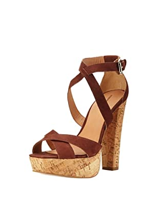 Madison Harding Women's Jackson Strappy Platform Sandal (Tobacco)