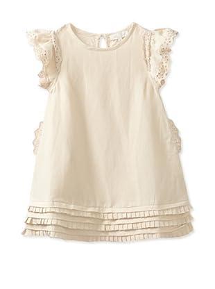 Pale Cloud Girl's Desiree Dress (Light Sand)