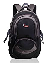 F Gear Storm Black Grey Laptop Backpack
