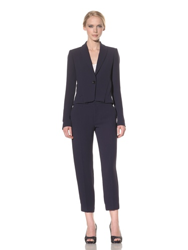 Rachel Roy Women's Drape Back Jacket (Deep Sea Blue)
