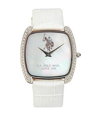 U.S. POLO ASSN. Uhr mit japanischem Quarzuhrwerk Harmony weiß 35 mm