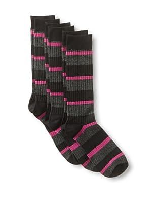 2xist Men's Dress Crew Socks Diamond Argyle - 3 Pack (Black/Charcoal)
