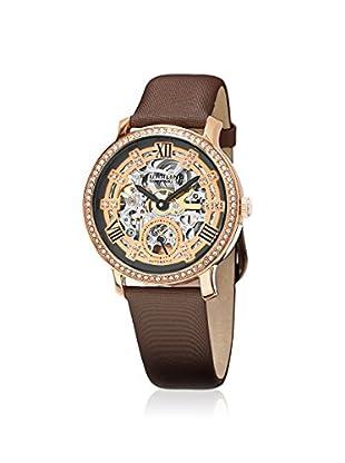 Stührling Women's 802.03 Legacy Dark Brown/Rose Stainless Steel Watch
