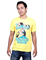 UberPlush Men's Casual T-Shirt UPRN10030YP ( Yellow )