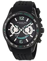 Stuhrling Original Men's 274.335671 Champion Victory Brevet Quartz Chronograph Date Black Rubber Strap Watch