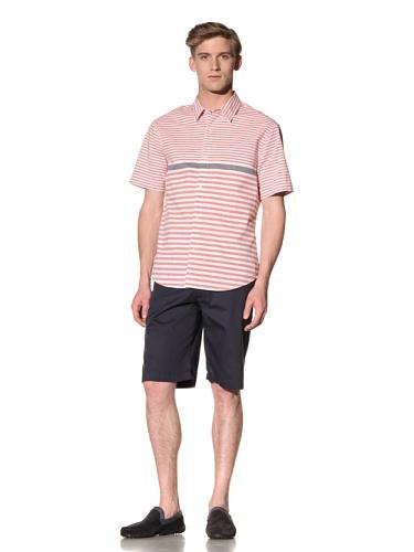 Riviera Club Men's Mutu Stripe Shirt (Red)